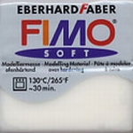 FIMO SOFT transparant-wit 014