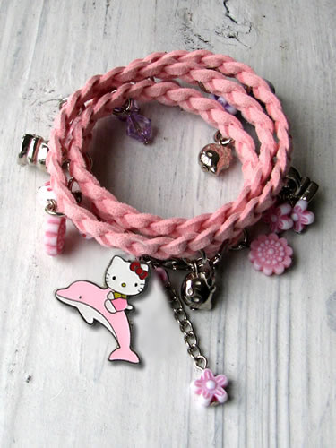 Gevlochten armband Hello Kitty