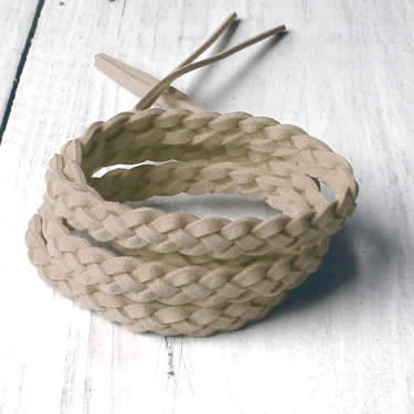 Gevlochten armband 4 veters naturel