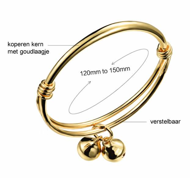 Armandje goldplated voor baby of babypop